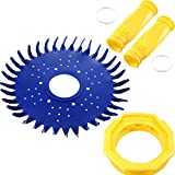 4 Pieces Pool Cleaner Replacements Include W70329 Pool Cleaner Finned Seal W69698 Pool Cleaner Diaphragm W70327 Foot Pad Compatible with Zodiac Baracuda G2, G3, G4 Replace W69721 W72855 (Blue, Yellow)