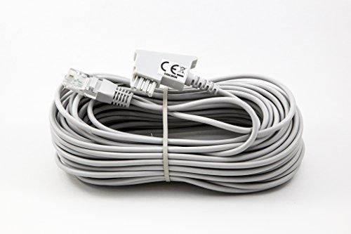 15m GRAU VDSL ADSL Kabel für den IP basierten DSL Anschluss TAE RJ45 VoiP Fritzbox Speedport