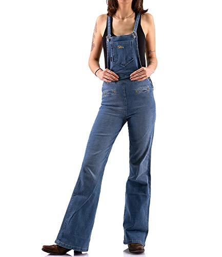 Comycom 70er Jahre Retro Latzhose Jeans verwaschen 28/32