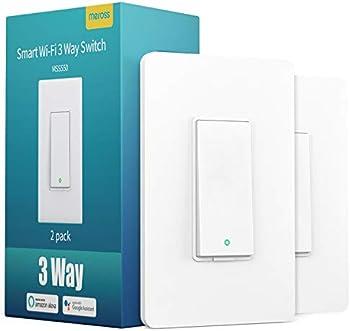 2 Pack Meross 3-Way Smart Light Switch