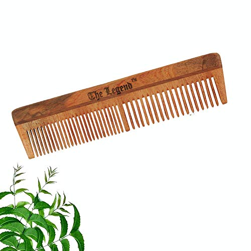 The Legend Organic Neem Wood Comb (Brown)