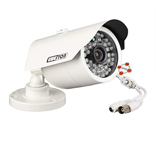 EWETON 1080P Hybrid Bullet Security Camera, 2.0 Megapixel HD 4-in-1 TVI/CVI/AHD/CVBS Waterproof Outdoor Surveillance Camera, 3.6mm Lens 48 LED 130ft IR Night Vision