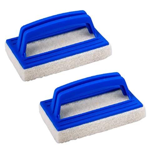 nuluxi Pool Schwamm Bürsten Kunststoff Schwimmbad Bürste Pool Algenbürste Handbürste mit Schwamm Pool Bodenbürste Kunststoff Teich Bürste Reinigungszubehör Geeignet zum Reinigen von Schmutz und Moos