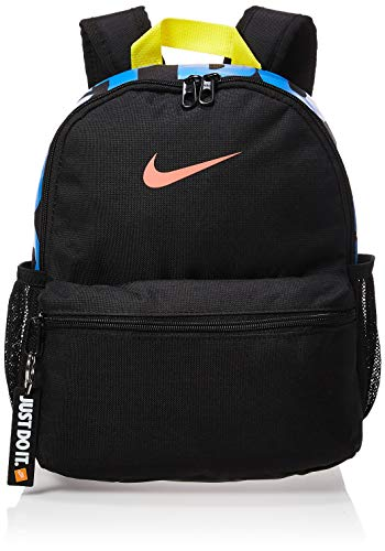 Nike Kids' Nike Brasilia 'just Do It' Backpack (mini), Black/Black/(Magic Ember), Misc