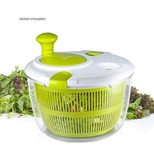Salatschleuder - eine Kurbelgriff und Deckelverriegelungs Waschmaschine mit Trockner Gemüse manuellen Salattrockner für Gemüse und Obst Mischer,Lila