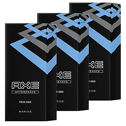 3 x Axe Aftershave Marine Fresh Aqua 100ml cada uno