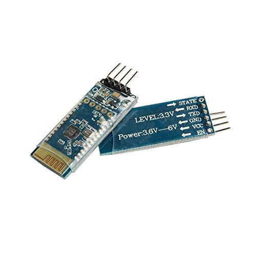 Ximimark 2Pcs BT06 Bluetooth Serial Port Wireless Data Module Compatible SPP with HC-05/06 Bluetooth Class 2 Modules for DIY Arduino