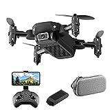 JJDSN Mini dron 4K para niños, cámara WiFi FPV 4KMP HD, Inicio con tecla Ne, Tap Fly, Ajuste de Velocidad, 3D Flips Black-1