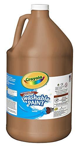 Crayola 54-2128-007 Washable Paint, Gallon Size, Brown, 1 Unit