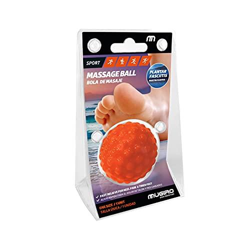 Mugiro Bola de Masaje. 5cm de diametro. Alivia el dolor y la tensión muscular. Efectiva para reducir el dolor causado por la fascitis plantar. 1 ud. Fabricada en España.