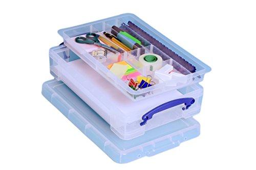 Really Useful Boxes UB4LCO Transparent Box & Organizer zur Aktenaufbewahrung - Boxen & Organizer zur Aktenaufbewahrung (Transparent, 862 g, 390 x 240 x 85 mm, 335 x 215 x 70 mm)