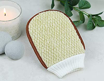 Body scrub Exfoliating Glove Tan Remover - Natural Sponge Body Exfoliator - Organic Bath Exfoliating Glove/Mitt - Shower Sponge - Shower Scrubber - For Skin Exfoliation and Tan Removal from Alpha Design Products