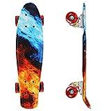 streakboard Skateboard 59x15x10cm para Principiantes Adultos y Niños, Mini Cruiser Skateboard, Completo Skateboard para Principiantes con Rodamientos de Bolas ABEC-7