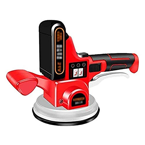 CRMY Electric Tiling Machine, Tile Tiler Vibrating Tool - Automatic Leveling Machine Tool - Floor/Wall Tiles - Maximum Adsorption of 330kg - with Digital Display (Size : 1 Batteries)