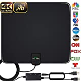 HDTV Antenna, 2020 Newest Indoor Digital TV Antenna 130 Miles Range with Amplifier