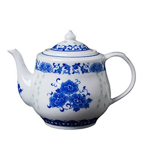 Sunferkyh Tetera De Cerámica Tetera De Cerámica Azul Y Blanco Exquisito Crisol De Cerámica For Empacado De Té Y Bolsitas De Té Adecuado para Reuniones Familiares (Color : Blue, Size : 18.5x13.5cm)