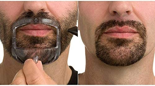 5 Sizes Set of French Beard or Goatee Shaving Template I Beard Outliner I Guide to Shave Goatee product image