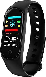LINGJIA Pulsómetros Ip67 Impermeable Mujer Reloj Inteligente Reloj Deportivo Hombres Monitor De Presión Arterial Ritmo Cardíaco Rastreador De Ejercicios Podómetro Reloj Banda/Negro