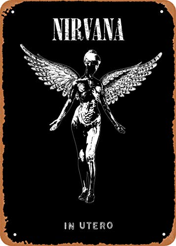 EICOCO Album Covers Music Nirvana in Utero Plaque Poster Metal Tin Sign 8' x 12' Vintage Retro Wall Decor