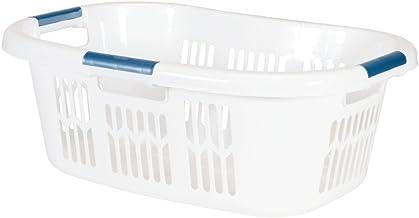 Rubbermaid Hip Hugger Laundry Basket, Standard, White, 1.86 cu ft (FG299787WHT)