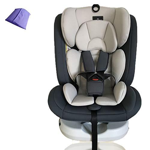 Cómodo asiento para automóvil para niños/niños, asientos de seguridad para niños para la parte trasera del automóvil, interfaz ISOFIX+LATCH,4posiciones,Puede acostarse,0-12años,beige-NoISOFIXin