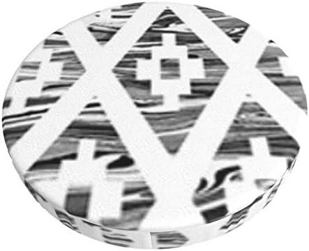 Etnische Argyle Vormen Hand Bar kruk kussen super ademende ronde barkruk cover zitkussen 35 inch