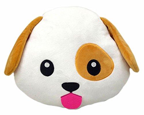Home Harmony Dog Puppy Emoji Pillow Smiley Emoticon Cushion Stuffed Colorful Plush Toy 32cm New