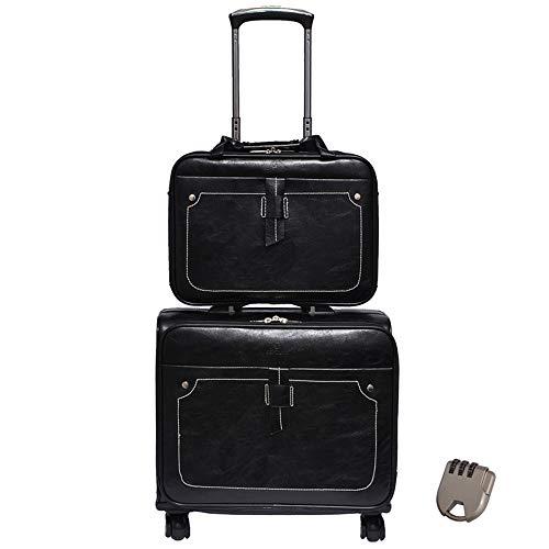 Luggage Borsone da Viaggio con Ruote, Trolley Borsa in Pelle, Borse per Indumenti da Viaggio di Grande capacità, Impermeabili Sacche da Viaggio per Gli Uomini, Migliore Borsa per Weekend