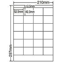 東洋印刷 シートカットラベル A4版 24面付(1ケース500シート) LDZ24P