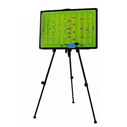 Tipo de Soporte Tabla de Tácticas de Fútbol Magnético, Tablero de Demostración de La Junta de Enseñanza del Entrenador de Fútbol, fácil de Llevar, Regrabable (Color : UNA)