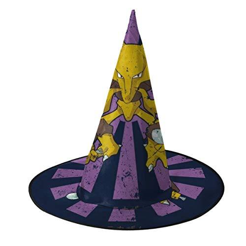 OJIPASD Alakazam Retro Japons Monster of The Pocket Sombrero de Bruja Halloween Unisex Disfraz para da Festivo Halloween Navidad Carnaval Fiesta