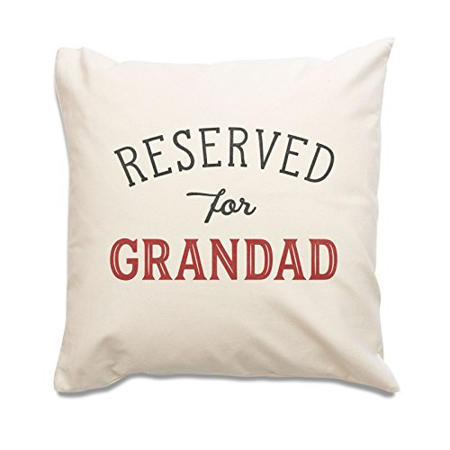 NEW - RESERVED FOR GRANDAD - Top Quality Cushion Cover - Gift Present Xmas Birthday