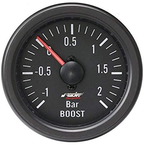Simoni Racing BV/B Indicador Mecánico de Presión Turbo+VAC, Negro