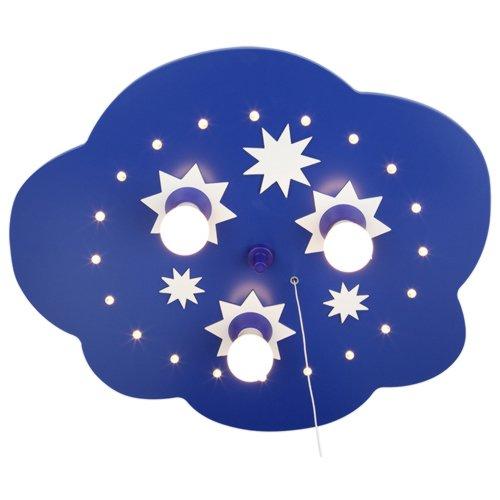 LED à étoiles bleu 124208 elobra plafonnier papillons à 3