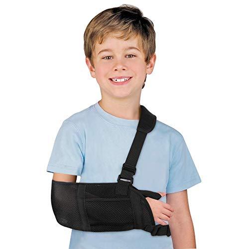 DOACT Cabestrillo de Malla Soporte Para Brazo Muñequera de Hombro Ajustable Codo Sling Tener Cinturón y Con Pulgar Correa de Fijación Diseñado Para La Lesión del Brazo Izquierdo y Derecho del Niño