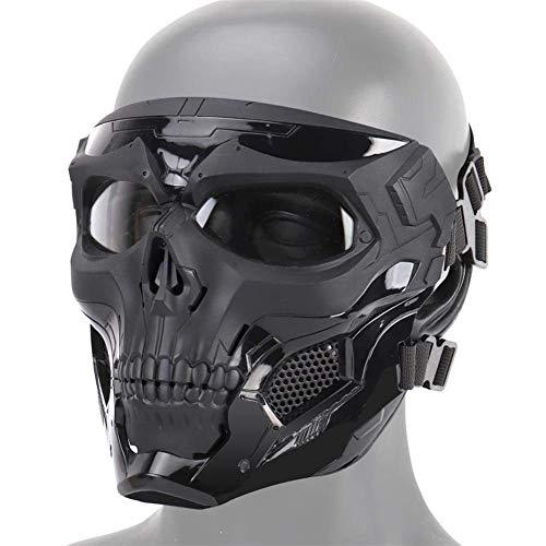ranninao Halloween Schädel Maske Halloween Gesichtsmaske Ghost Skull Horror Maske Halloween Für Halloween-Party Rollenspiele