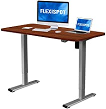 Flexispot Adjustable Desk, Electric Standing Desk, 48 x 30 Inches Whole-Piece Desk Board Home Office Table Stand up Desk(Gray Frame + 48 in Mahogany Top)…