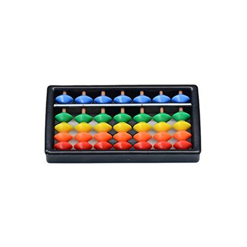 Ketamyy 5 Cuentas Angulares Ábaco de Plastico Soroban Calculadora China Japonesa Herramienta de Conteo Abacus Tradicional Matemática Mental para Niños - 7 dígitos