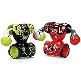 Silverlit Ycoo Pack 2 Robot Kombat Boxeur Télécommandé 14 cm Vert et Blanc-Il Avance Et Frappe Son Adversaire-Jouet avec Effets sonores Et Lumineux
