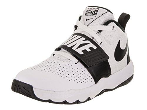 Nike Team Hustle D 8 (PS), Zapatos de Baloncesto Unisex Niños, Blanco (White/Black 100), 35 EU