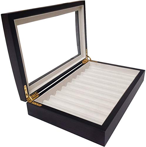 4LESS 10 Pen Fountain Wood Display Case Holder Storage Organizer Collector Box 1601E