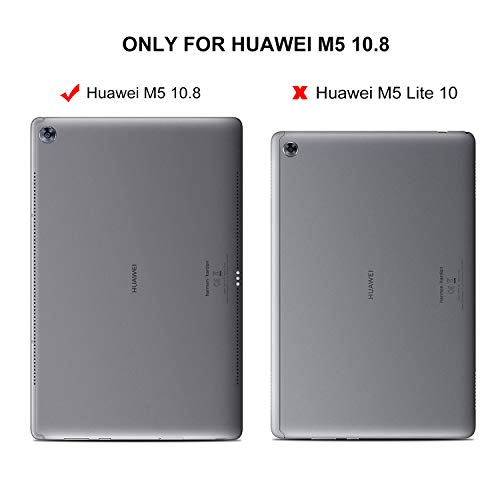 ELTD Schutzfolie für Huawei MediaPad M5 10.8,Premium 9H Härte 2.5D Runde Kante Anti-Fingerprint gehärtetem Glas Film Vollschutzfolie für Huawei MediaPad M5 10.8 Pro/M5 10.8 Zoll 2018 [Schwarz] - 2