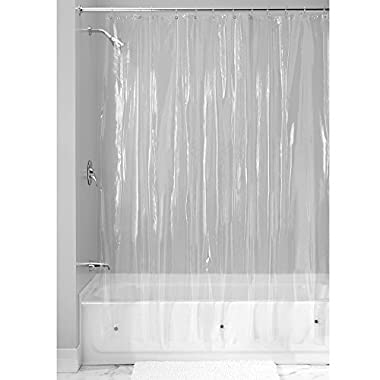 InterDesign Vinyl 4.8 Gauge Shower Curtain Liner - Long 72  x 84 , Clear