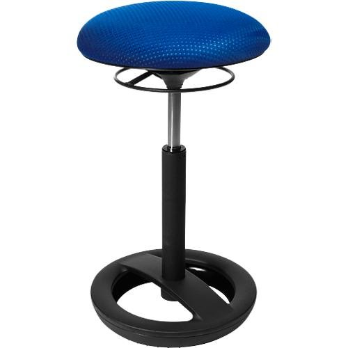 Topstar SU50BR6 Stehhilfe Sitness High Bob - Standfußring Alu Schwarz Lackiert, Stoffbezug Blau