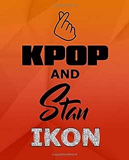 Kpop and Stan iKON: Finger Heart Love Fandom Merch Notebook 7.5 x 9.25