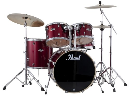 Pearl EXX705/C 5-Piece Export Fusion Drum Set with Hardware - Red Wine