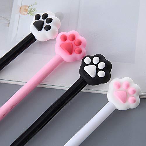KANGKANGBOOS Kugelschreiber 8 stücke Niedlichen tier Katze Pfote Rosa schwarz Herz Gelschreiber Unterschrift Schule Bürobedarf Werbegeschenk schreibwaren