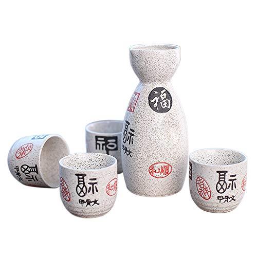 Panbado Sake Set aus Steinzeug, 5 TLG. in Geschenkverpackung