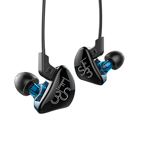 KZ ES3 Dynamic Hybrid Dual Driver In Ear Headphones (Blue without Mic)