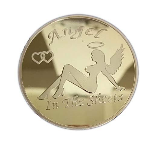 LINSUNG chapadas en oro de ni?a conmemorativas Monedas sexys plateadas Silver